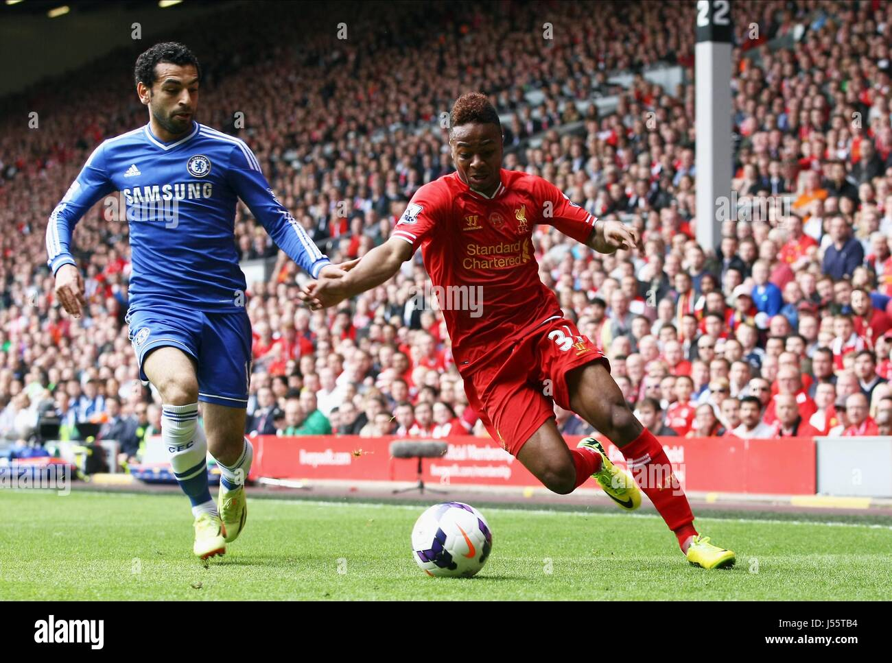 Mohamed Salah Raheem Sterlin Liverpool V Chelsea Anfield Liverpool Stock Photo Alamy