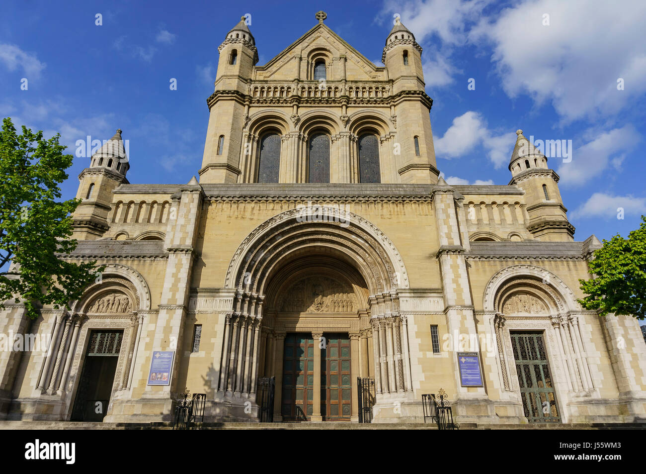 Exterior view of the historical St Anne's Cathedral, Belfast - Stock Image