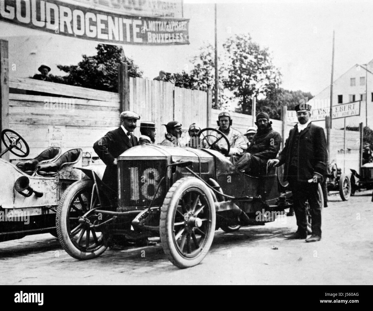 1907 Minerva, Brabazon. Circuit Des Ardennes Kaiserpreis - Stock Image