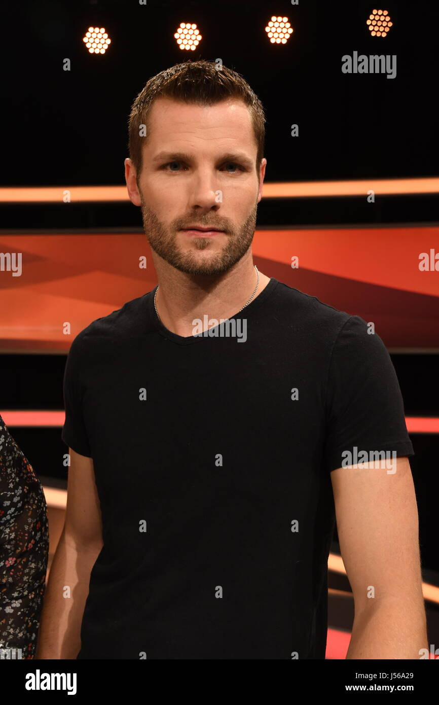 Racing driver Martin Tomczyk on the set of the German TV show 'Couple's Duel' in Huerth near Cologne, - Stock Image