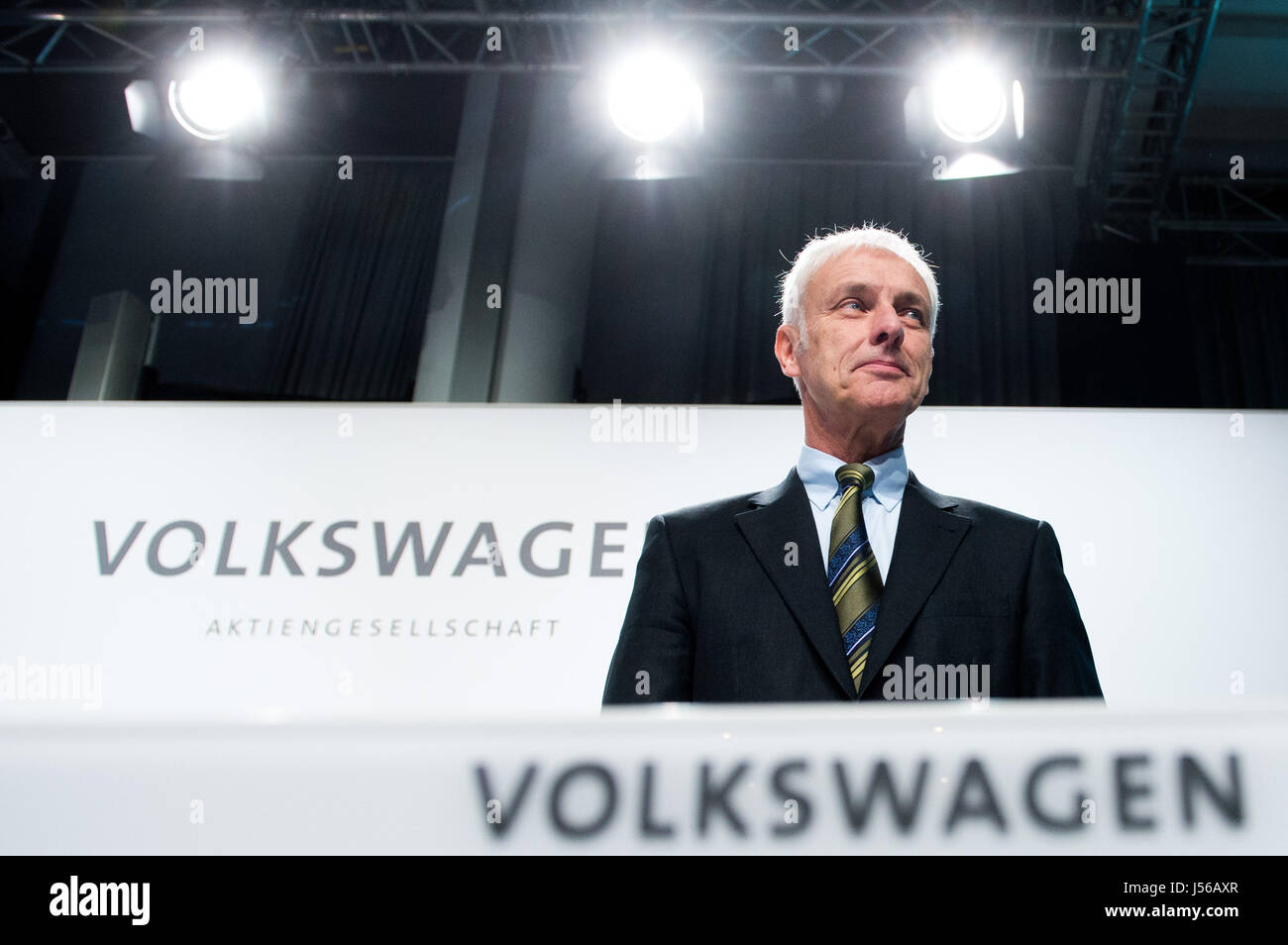 Wolfsburg, Germany. 10th Dec, 2015. ARCHIVE - Matthias Mueller, the CEO of Volkswagen AG, at a press conference - Stock Image