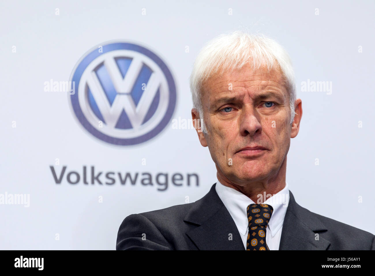 Wolfsburg, Germany. 18th Nov, 2016. ARCHIVE - Matthias Mueller, the CEO of Volkswagen AG, at a press conference - Stock Image