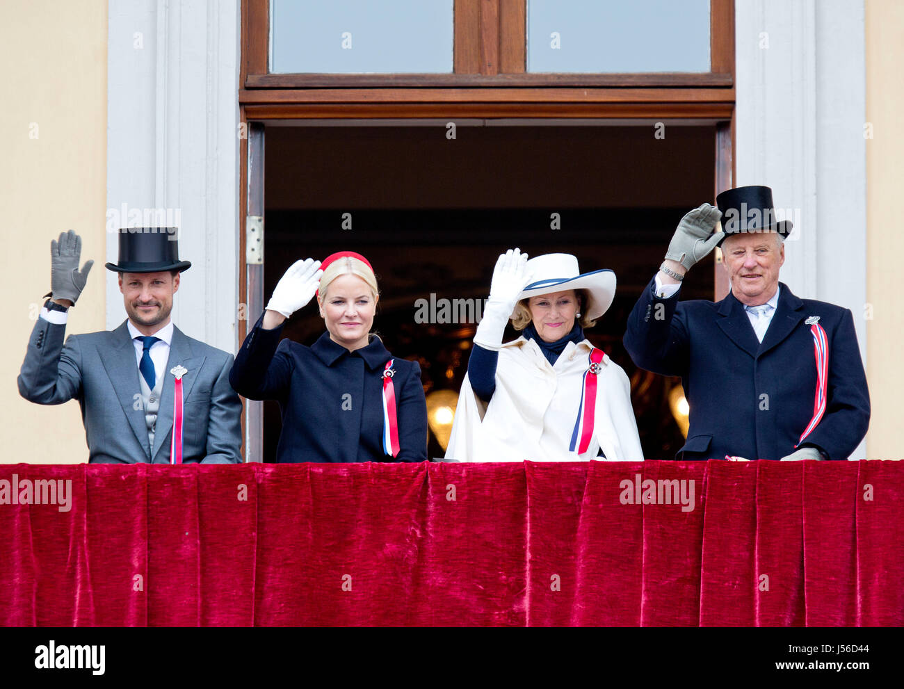 Norwegian Royal Family With Crown Prince Haakon L R Crown Princess Stock Photo Alamy