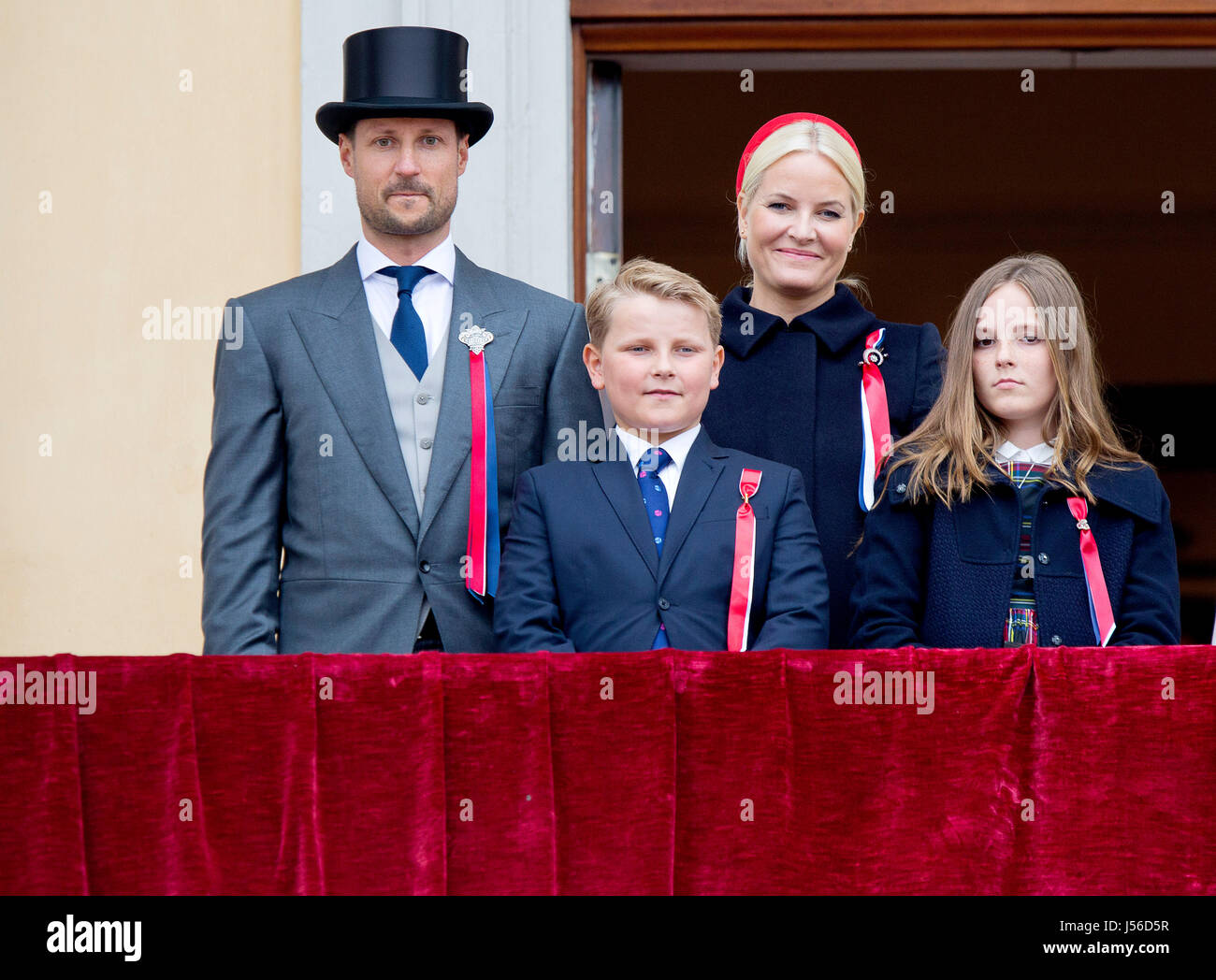 Norwegian Royal Family With Crown Prince Haakon L R Prince Sverre Stock Photo Alamy