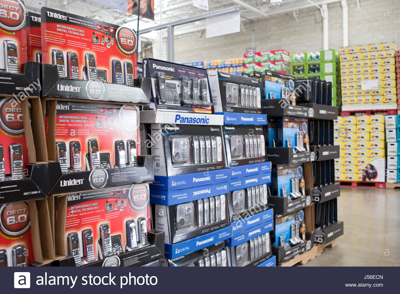 Consumer Electronics On Display At Costco Warehouse Costco