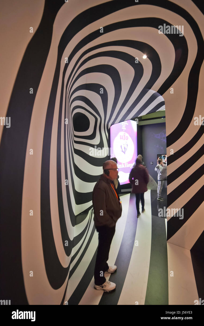 The Pink Floyd Exhibition Their mortal remains, at the Victoria and Albert Museum, London. - Stock Image