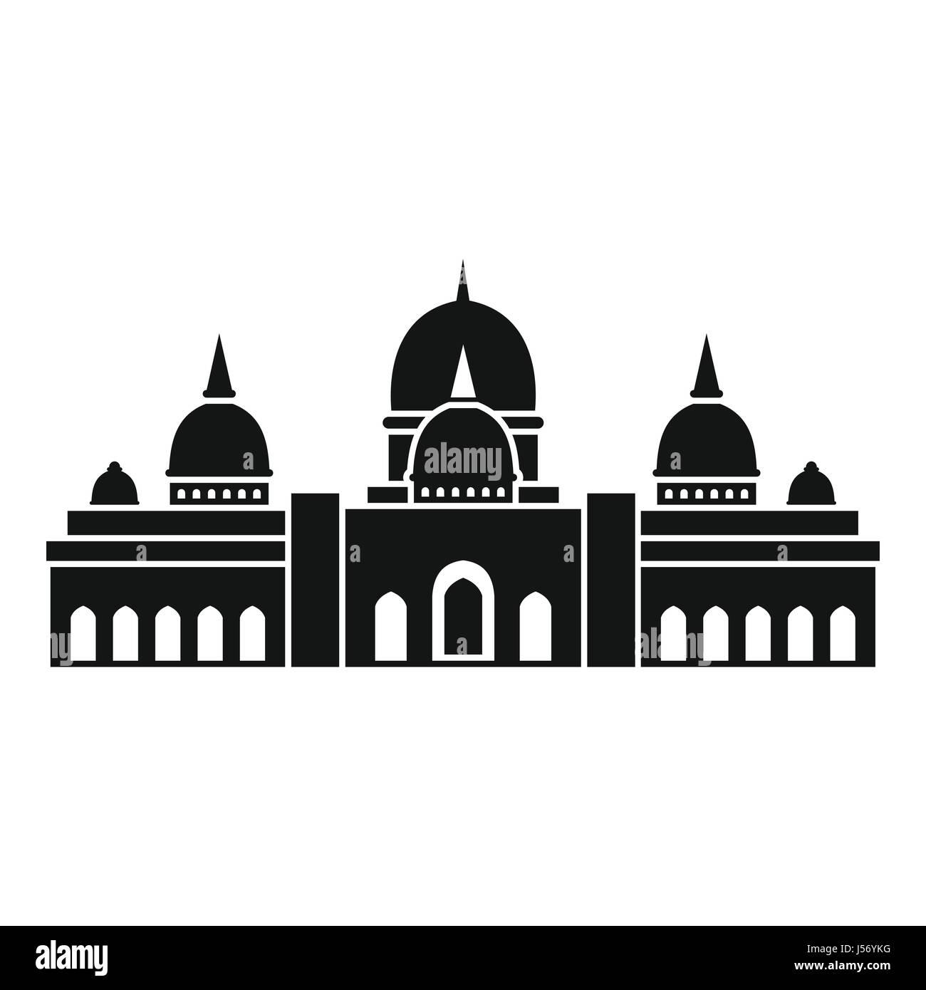 Sheikh Zayed Grand Mosque, UAE icon - Stock Image