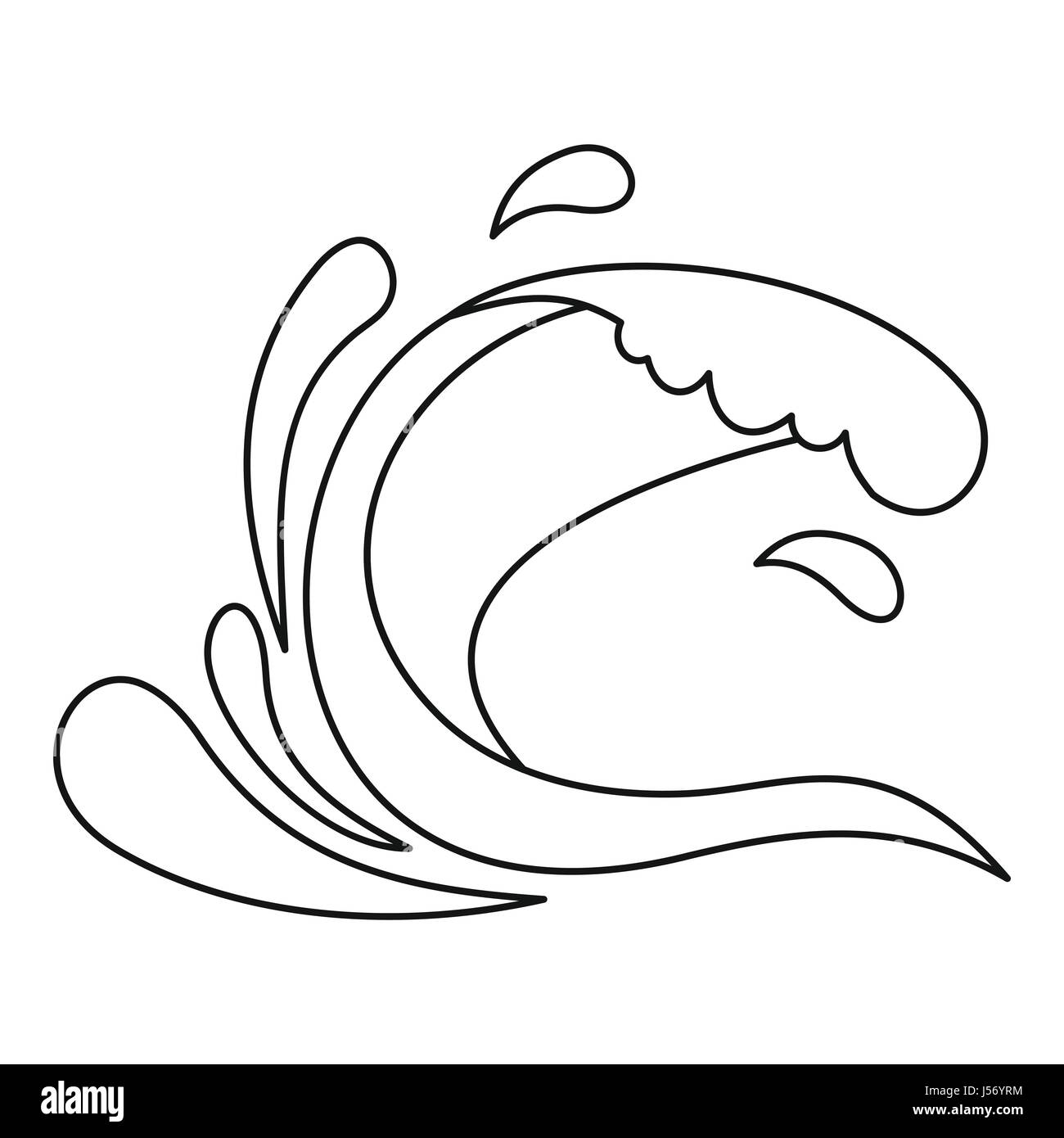 waves and splashes coloring pages - photo#24