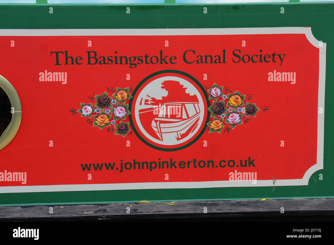 The Basingstoke Canal Society - Stock Image
