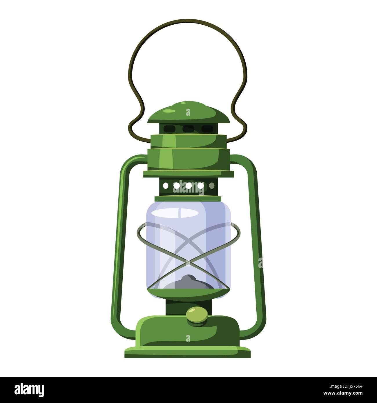 Kerosene lamp icon, cartoon style - Stock Image