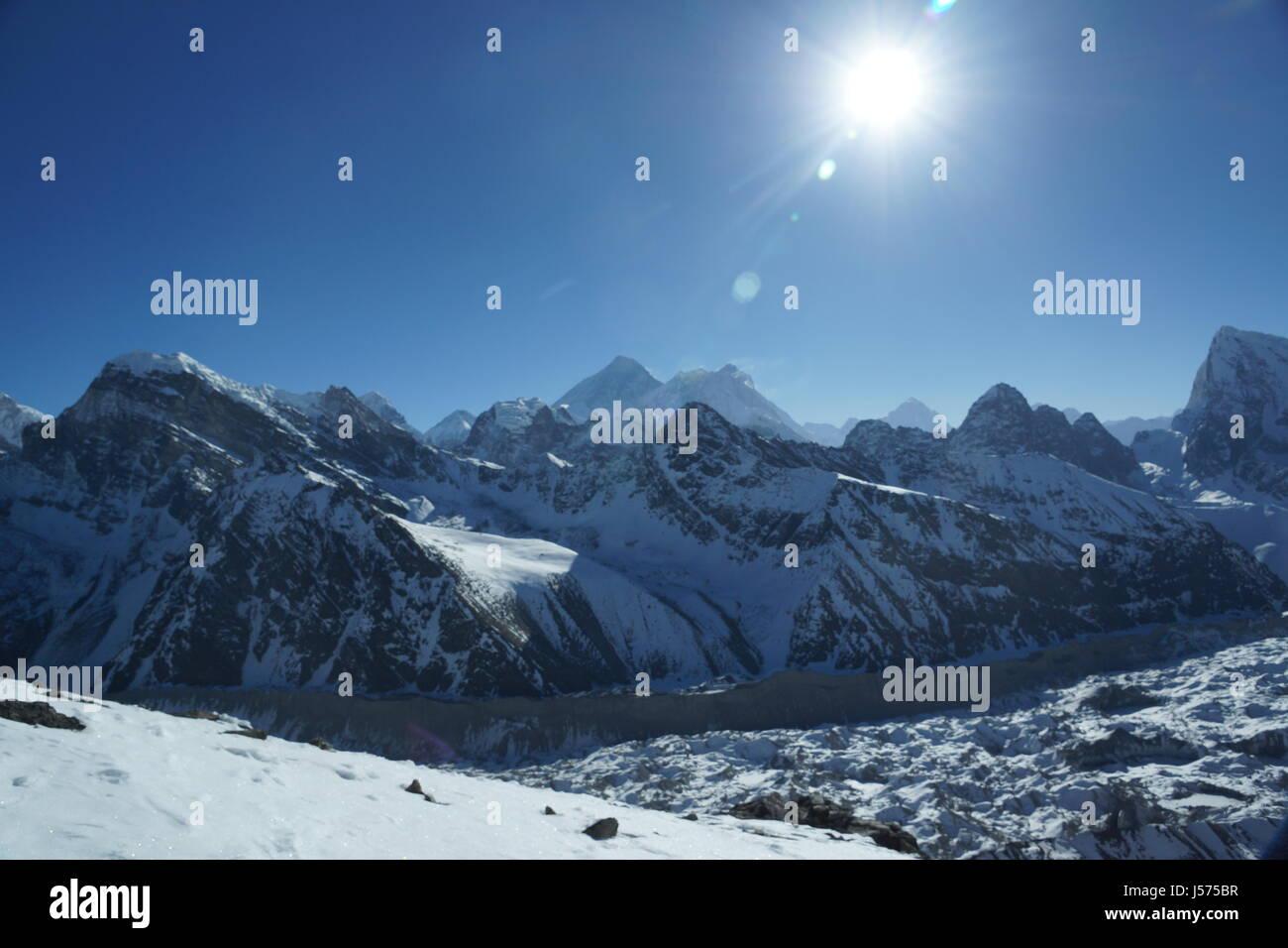 Sagarmatha National ParkView from Gokyo Ri in Nepal - Stock Image