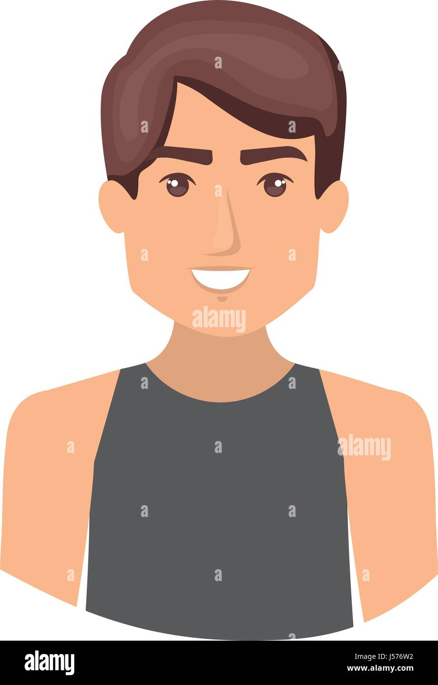 colorful portrait half body of male dancer - Stock Vector