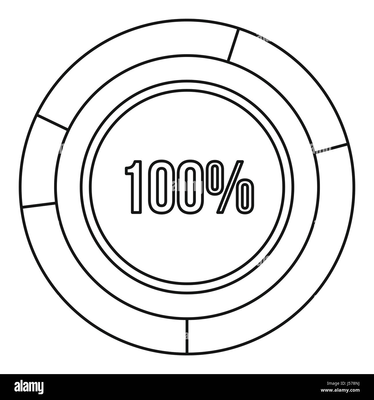 Pie chart circle graph 100 percent icon stock vector art pie chart circle graph 100 percent icon ccuart Images