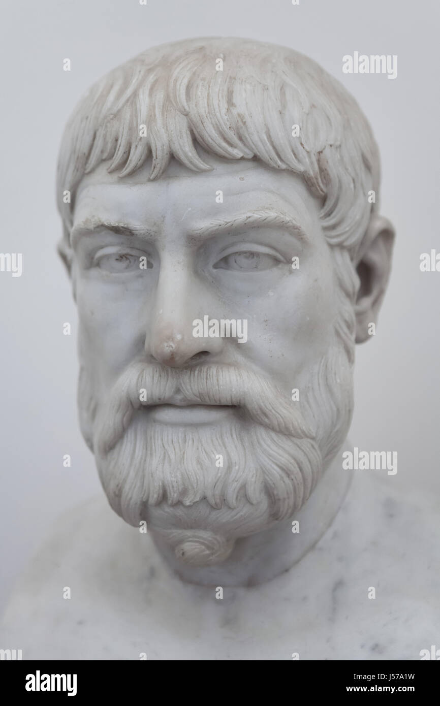 Marble bust of Greek lyric poet Pindar (522-443 BC). Roman copy dated Stock  Photo - Alamy