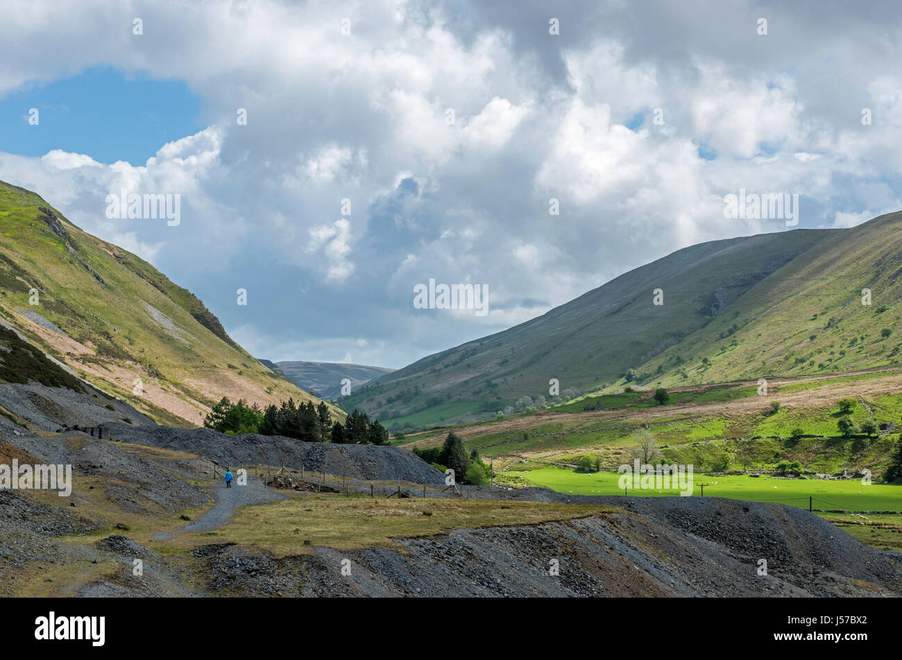 Cwmystwyth Lead Mine Workings Cardiganshire Mid Wales - Stock Image