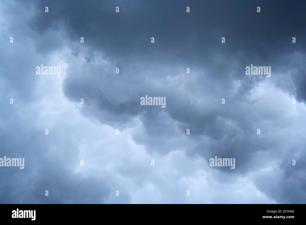 Stormy clouds formation. - Stock Image