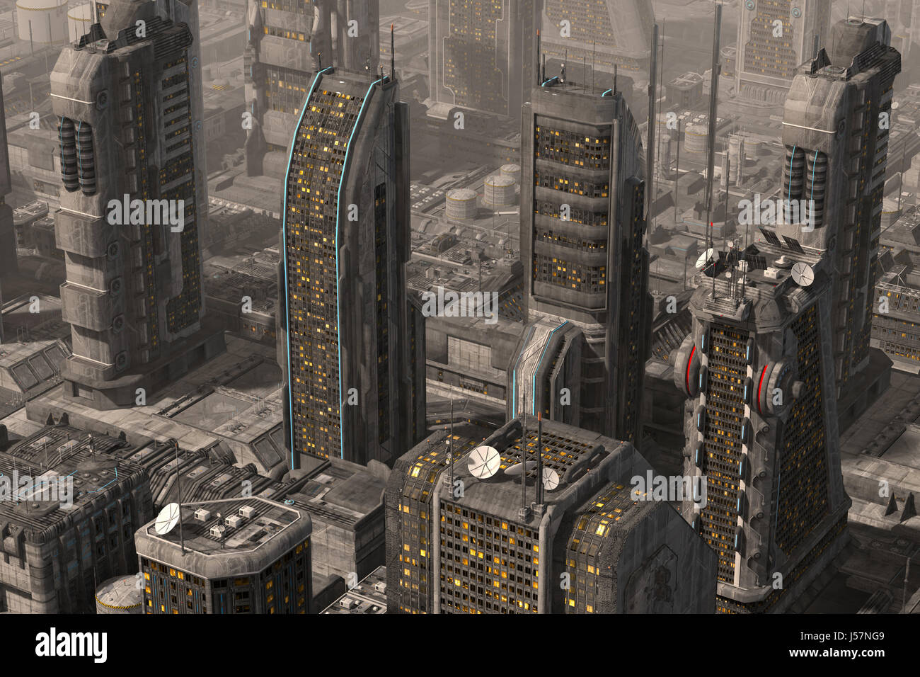3d Illustration Future City For Futuristic Or Fantasy Backgrounds Stock Photo Alamy