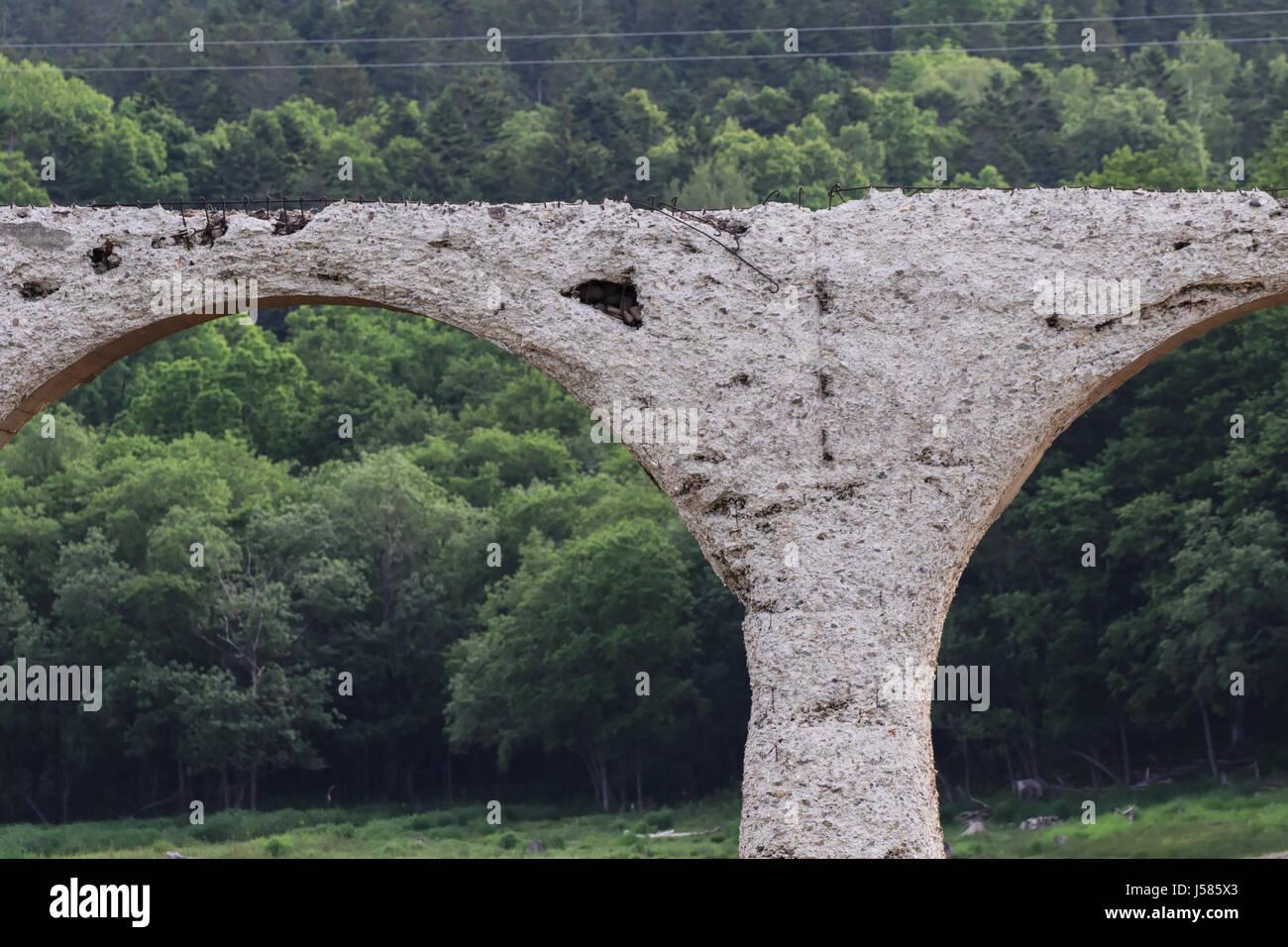 Higashi Taisetsu Arch Bridges Stock Photo