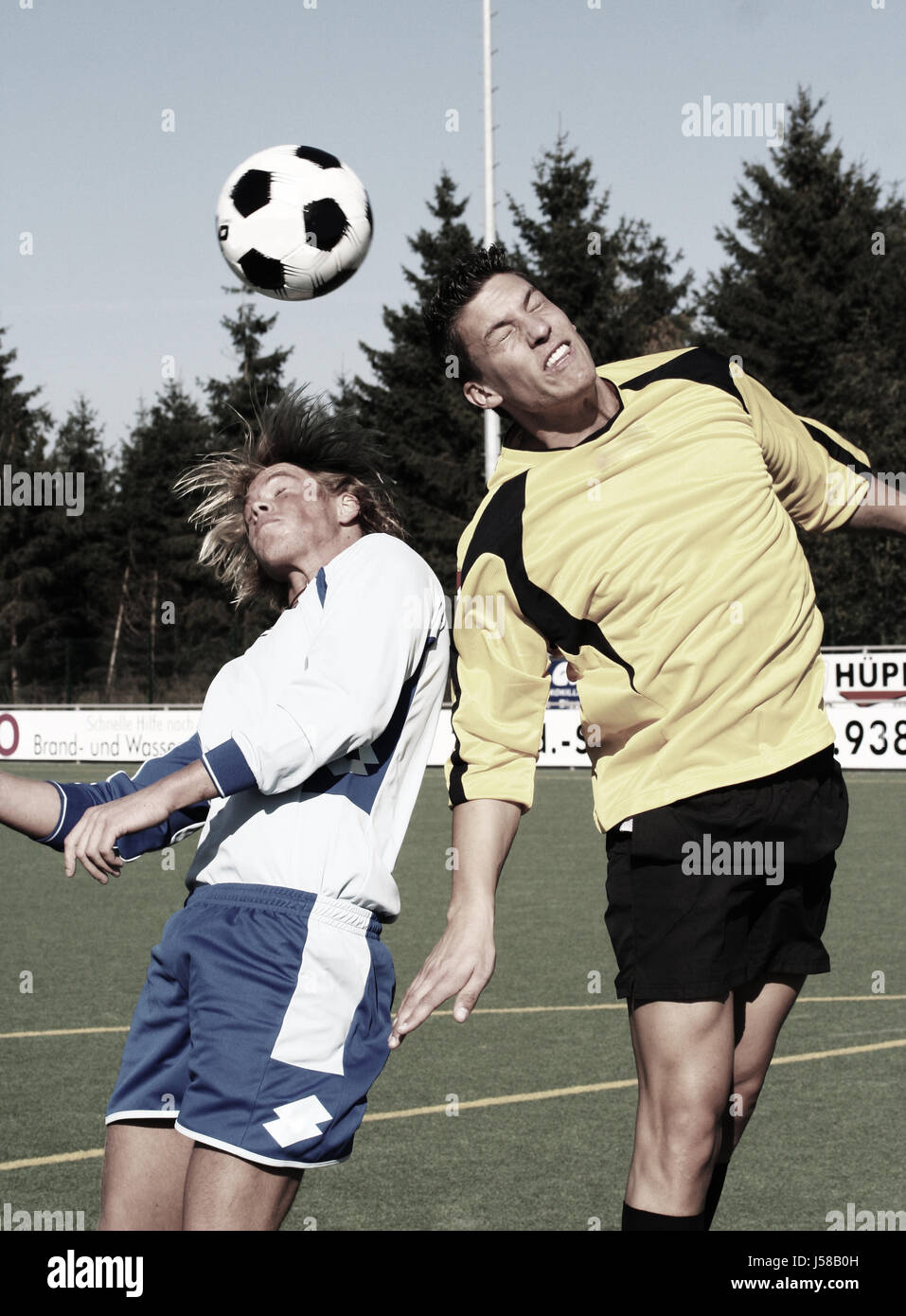 in duel for the header ii - Stock Image