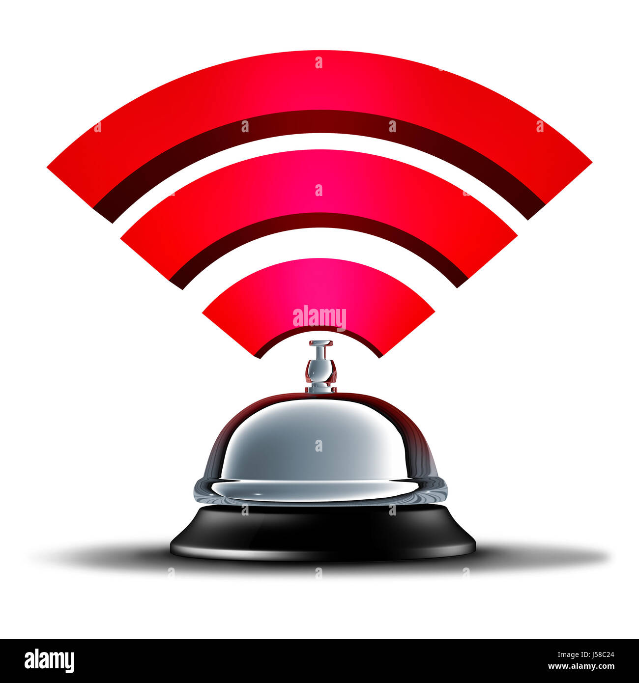 Wifi service or wi fi wireless communication and mobile broadband connection services as an internet wi-fi technology. - Stock Image