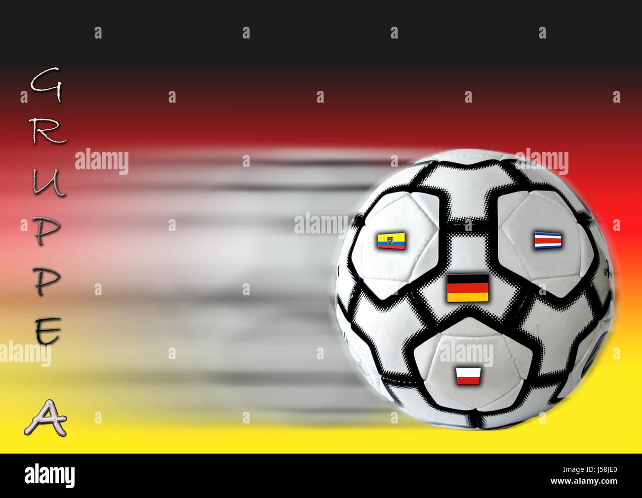 sport sports ball ball sport photo composition Germany flag flag football fan Stock Photo