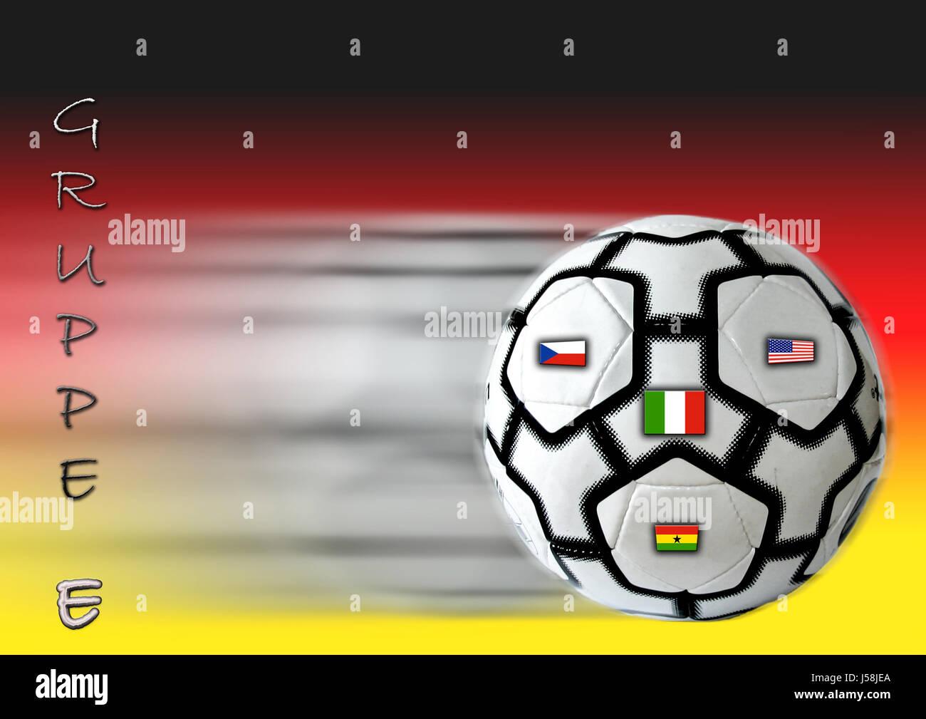 sport sports ball ball sport usa photo composition Germany flag flag football Stock Photo