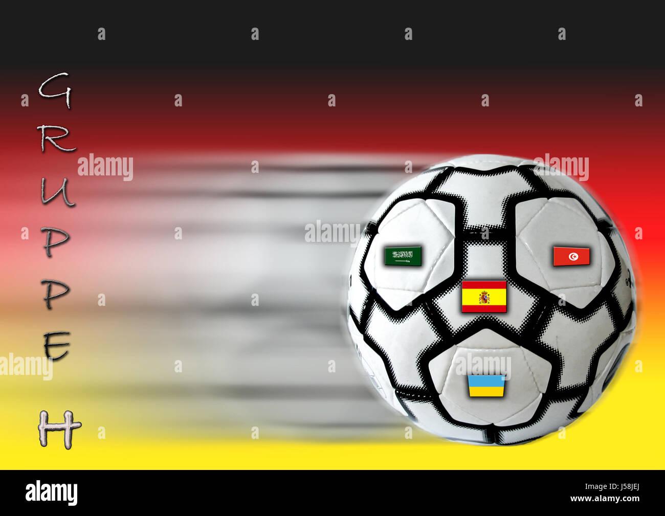 sport sports ball ball sport spain photo composition tunisia Germany flag flag Stock Photo