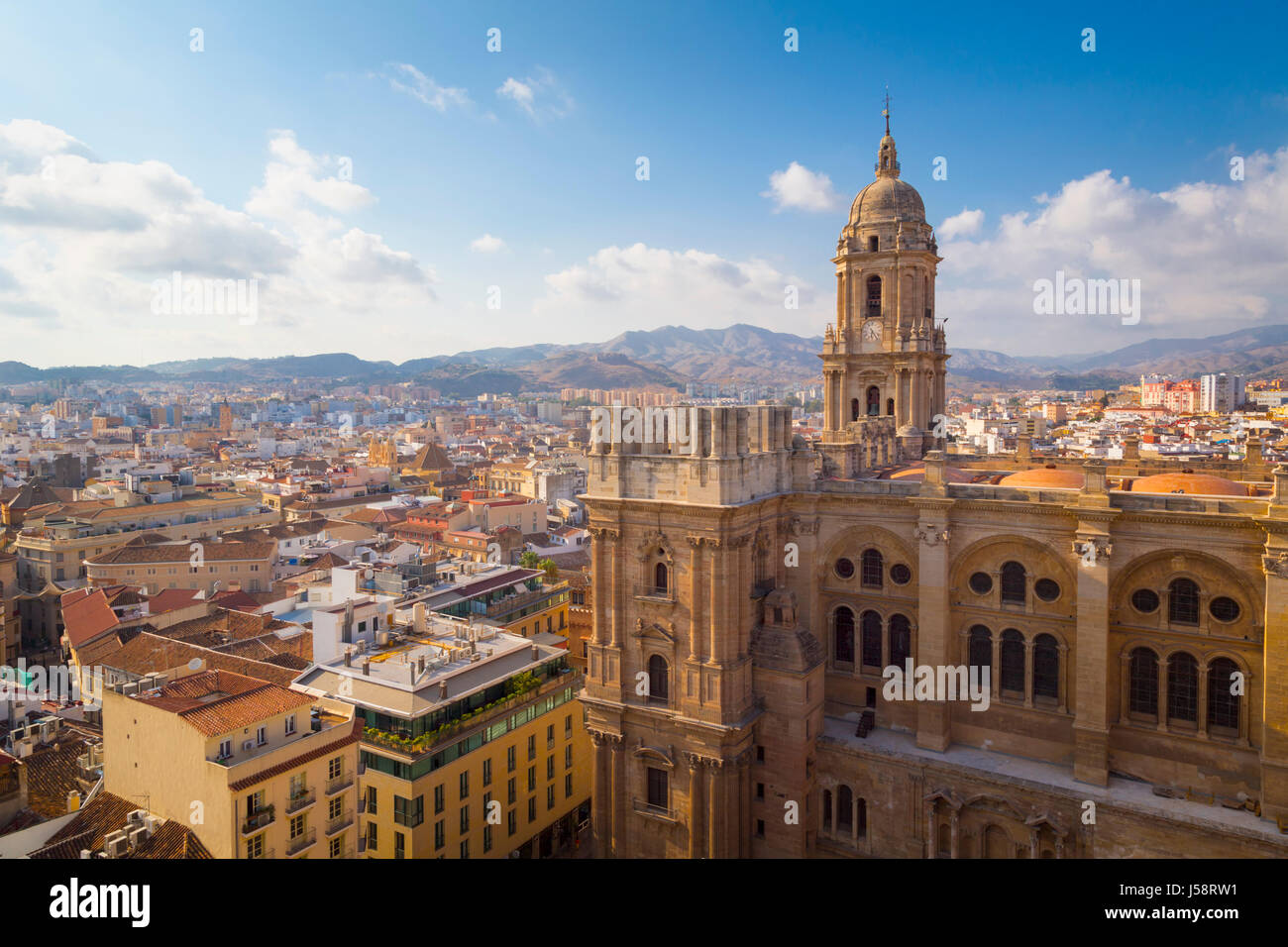 Malaga, Malaga Province, Costa del Sol, Andalusia, southern Spain. The Renaissance cathedral. Full Spanish name - Stock Image