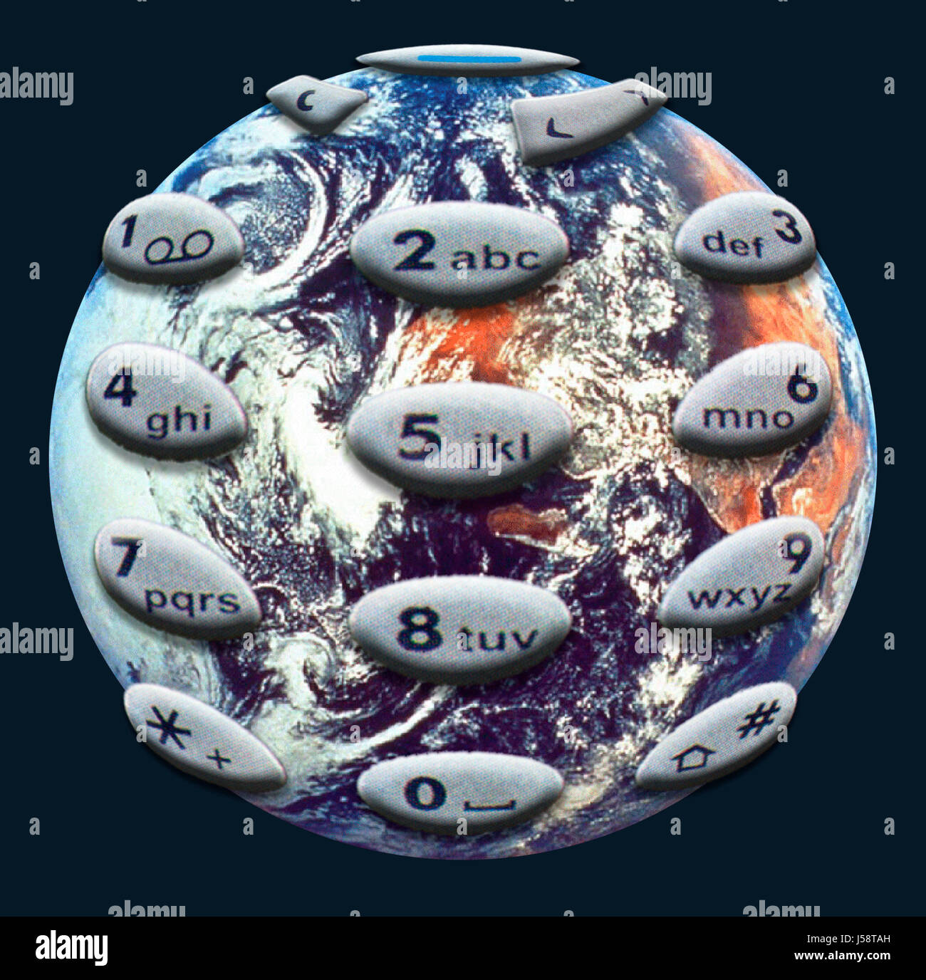 office keyboard communication globalization globe planet earth world worldwide Stock Photo