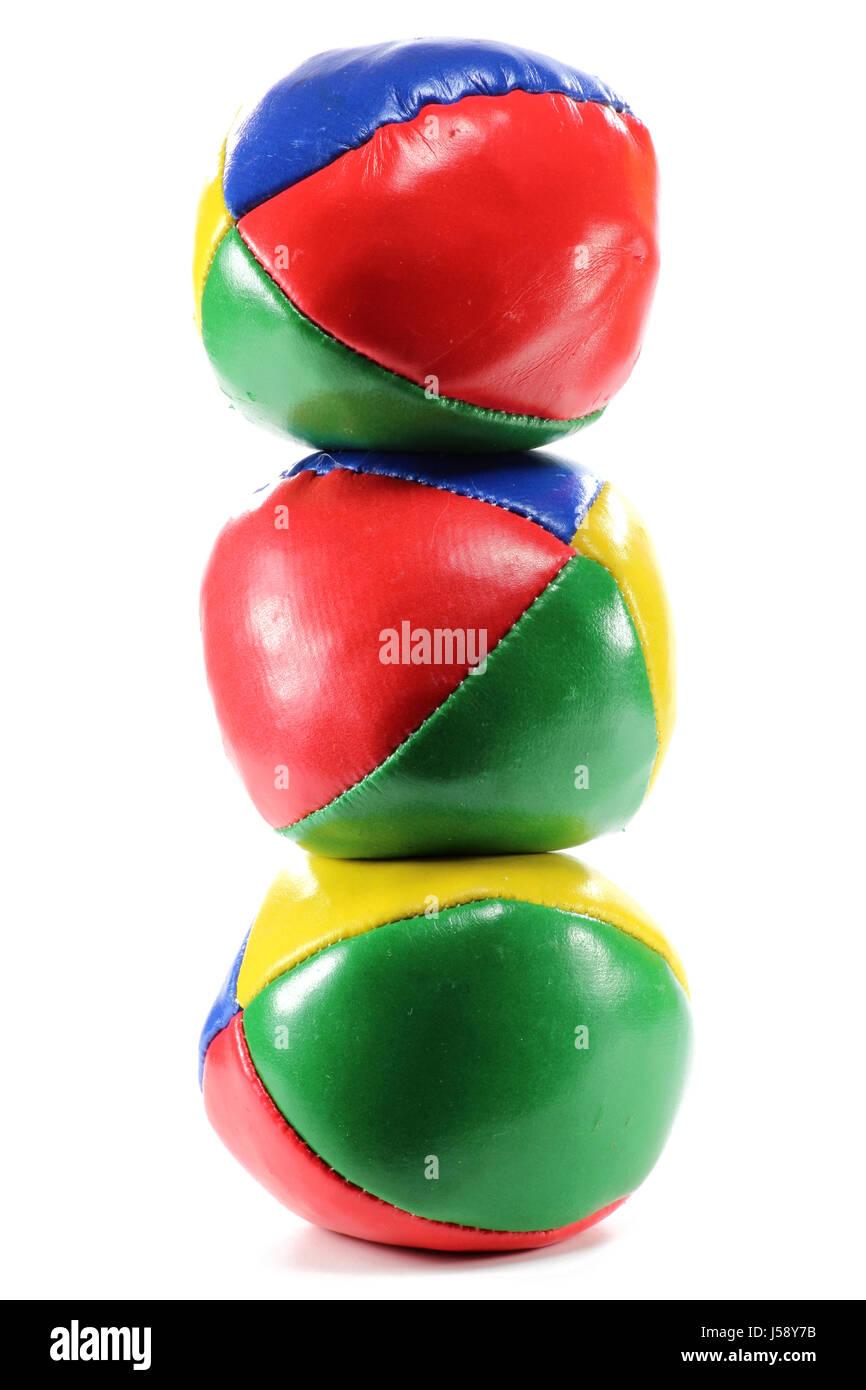 juggling balls isolated on white background - Stock Image