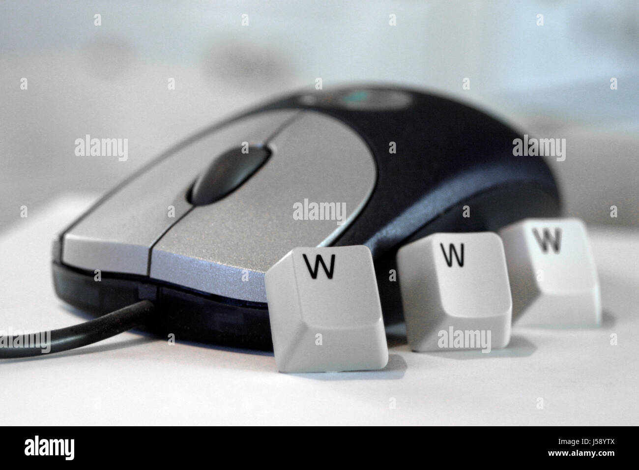check click steer periphery admission login elemental necessary mouse computer - Stock Image