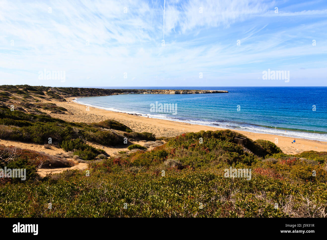 Lara Beach, home to breeding turtles on the Akamas Peninsula, Cyprus. - Stock Image
