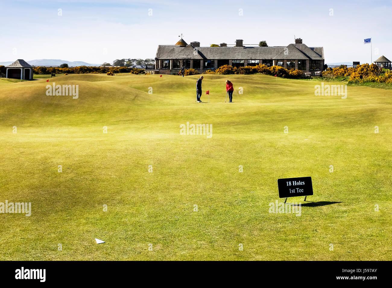Himalayas Putting course, St Andrews, Fife, Scotland, UK - Stock Image
