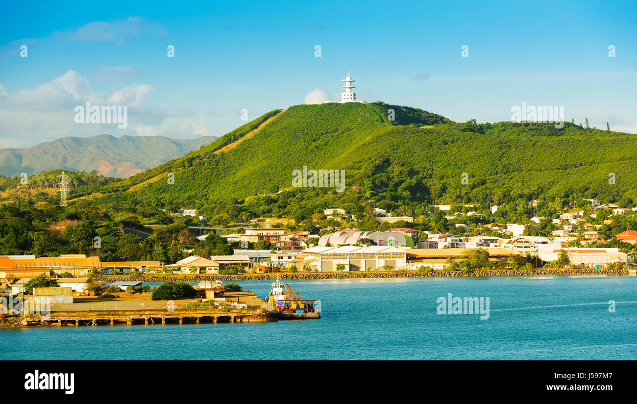 Noumea, capital of New Caledonia view from the bay - Stock Image