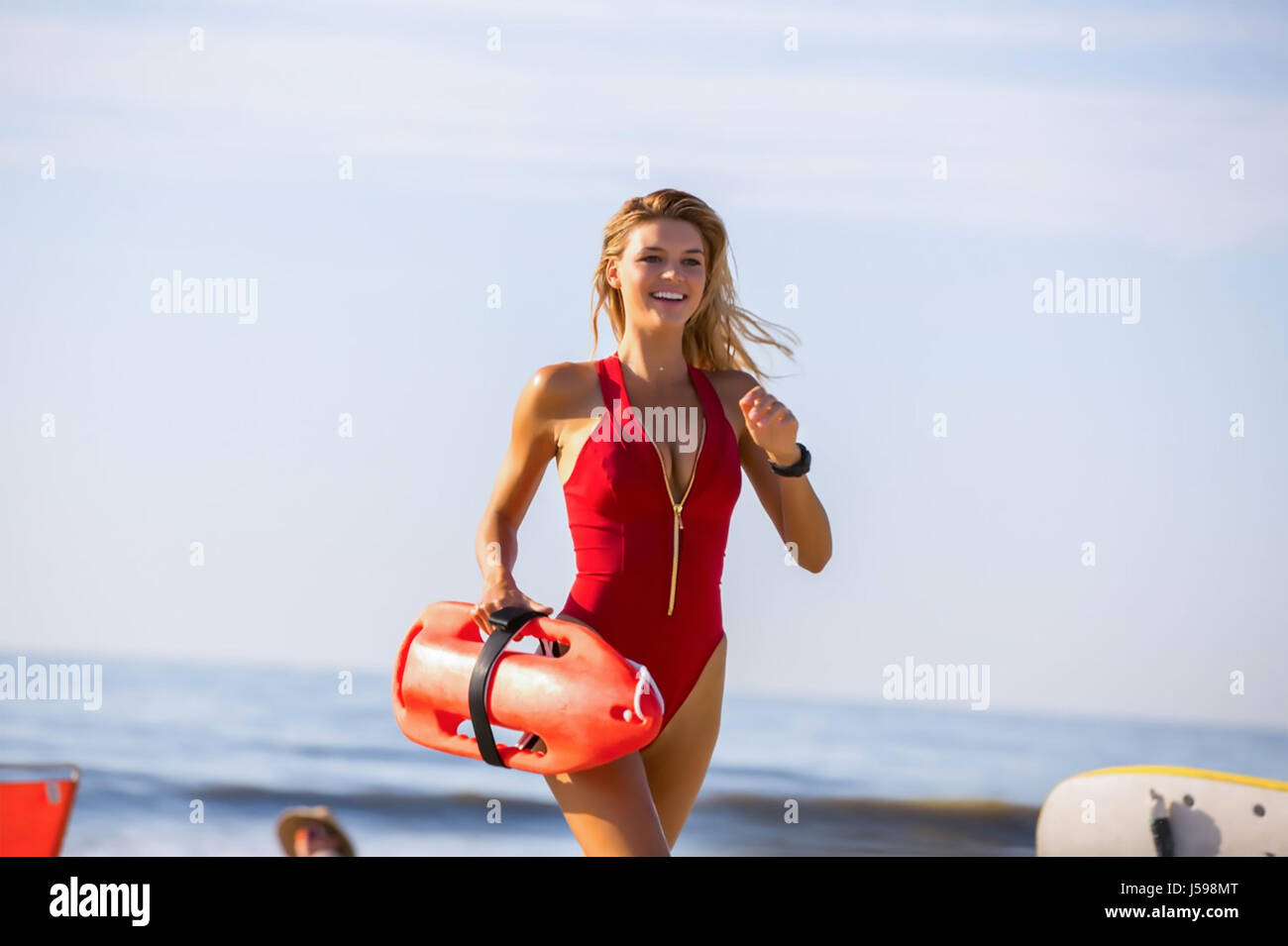 BAYWATCH 2017 Paramount film with Kelly Rohrbach - Stock Image