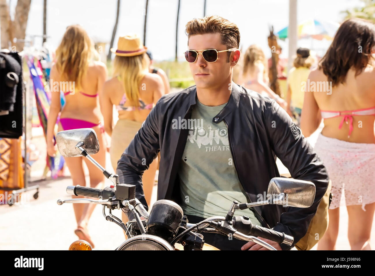 BAYWATCH 2017 Paramount film with Zac Efron - Stock Image
