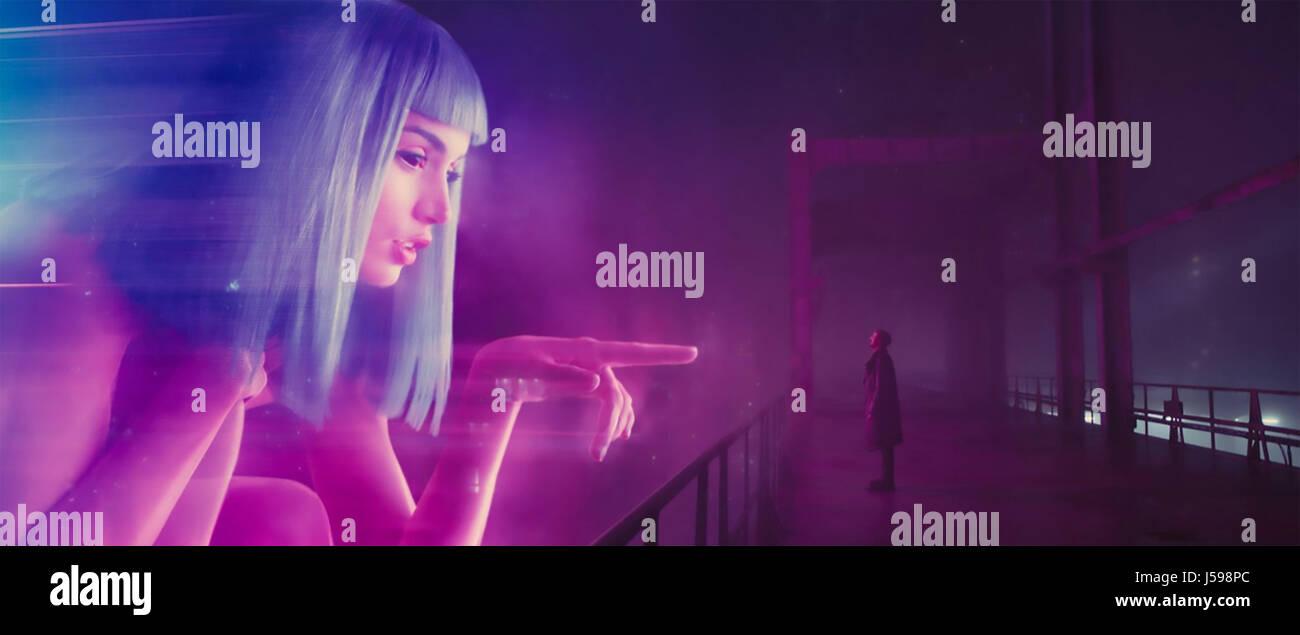 BLADE RUNNER 2049 -   2017 Columbia film with Ryan Gosling - Stock Image