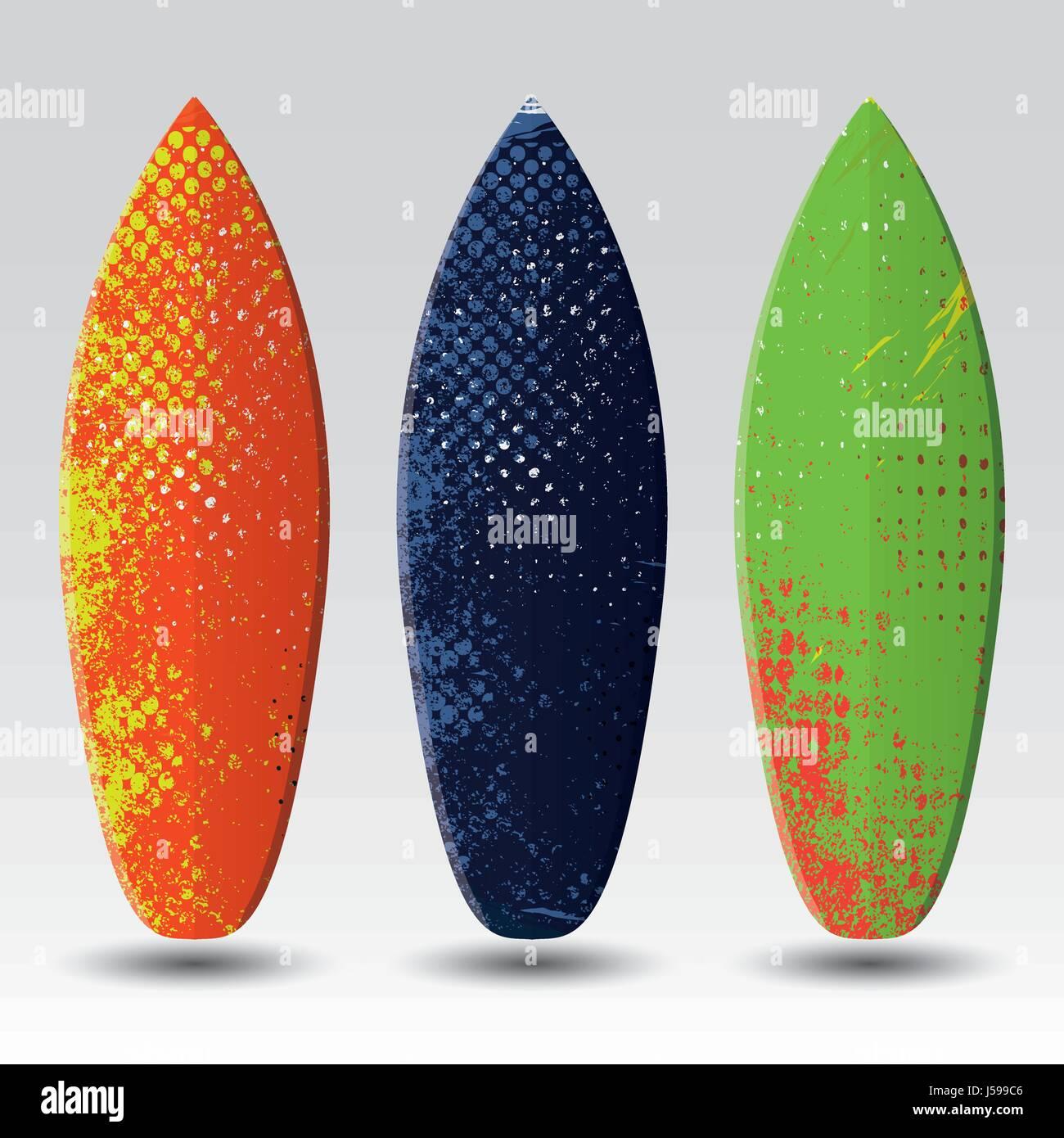 Vector Surfboard Design Templates Stock Vector Art Illustration