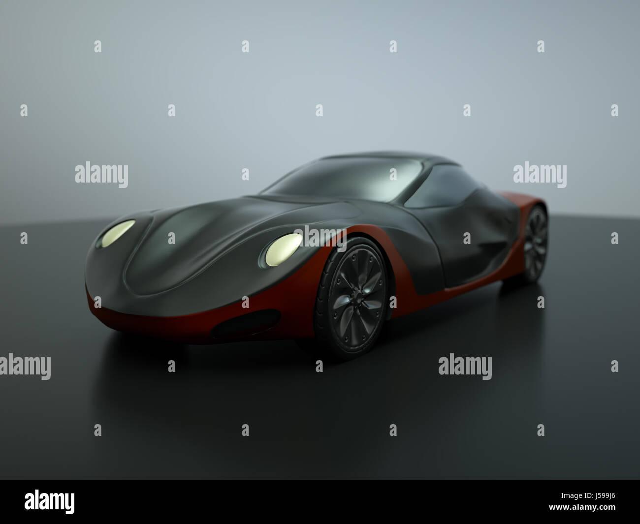 Sleek concept car - Stock Image
