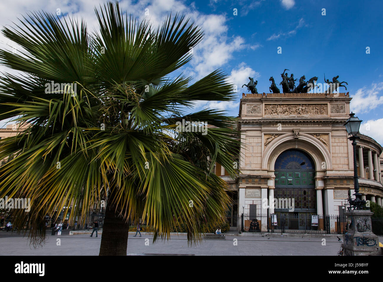 PALERMO, ITALY - October 14, 2009: The Politeama Garibaldi theater in Palermo, Sicily Stock Photo