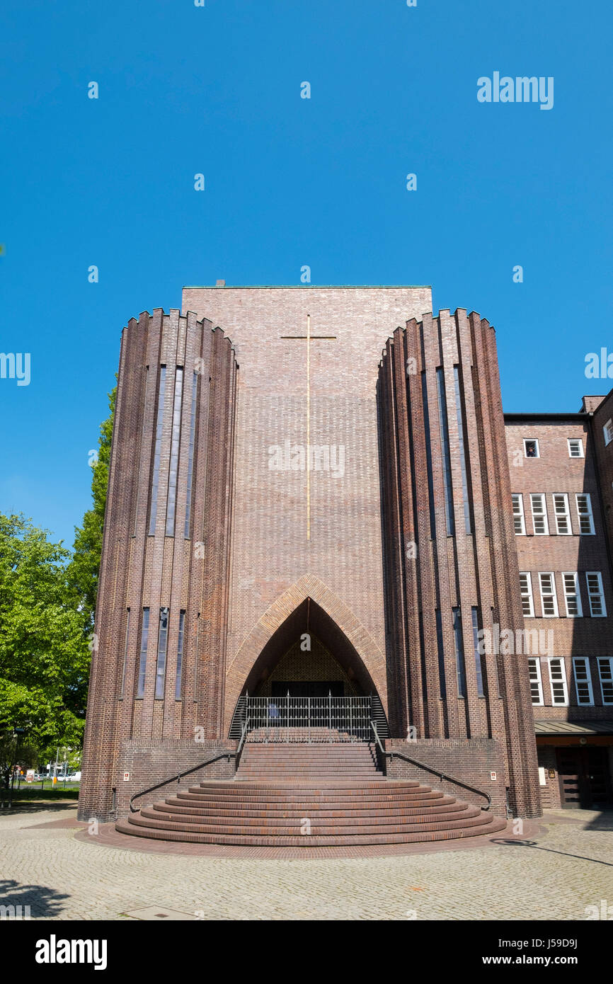 Exterior view of Kirche Am Hohenzollernplatz church in Berlin, Germany - Stock Image