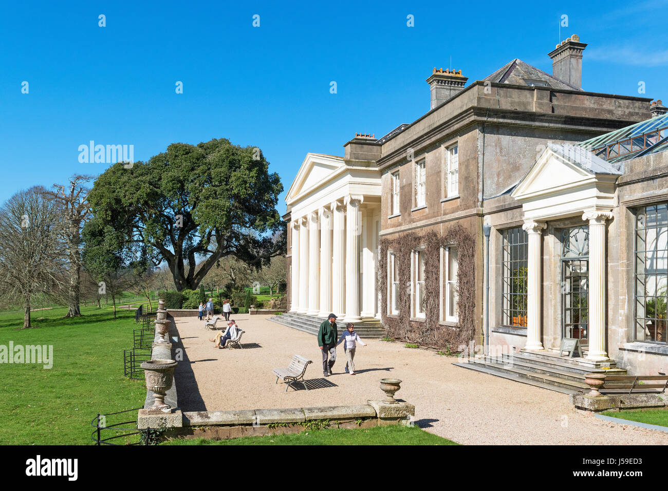 a stately home in cornwall, england, britain, uk - Stock Image