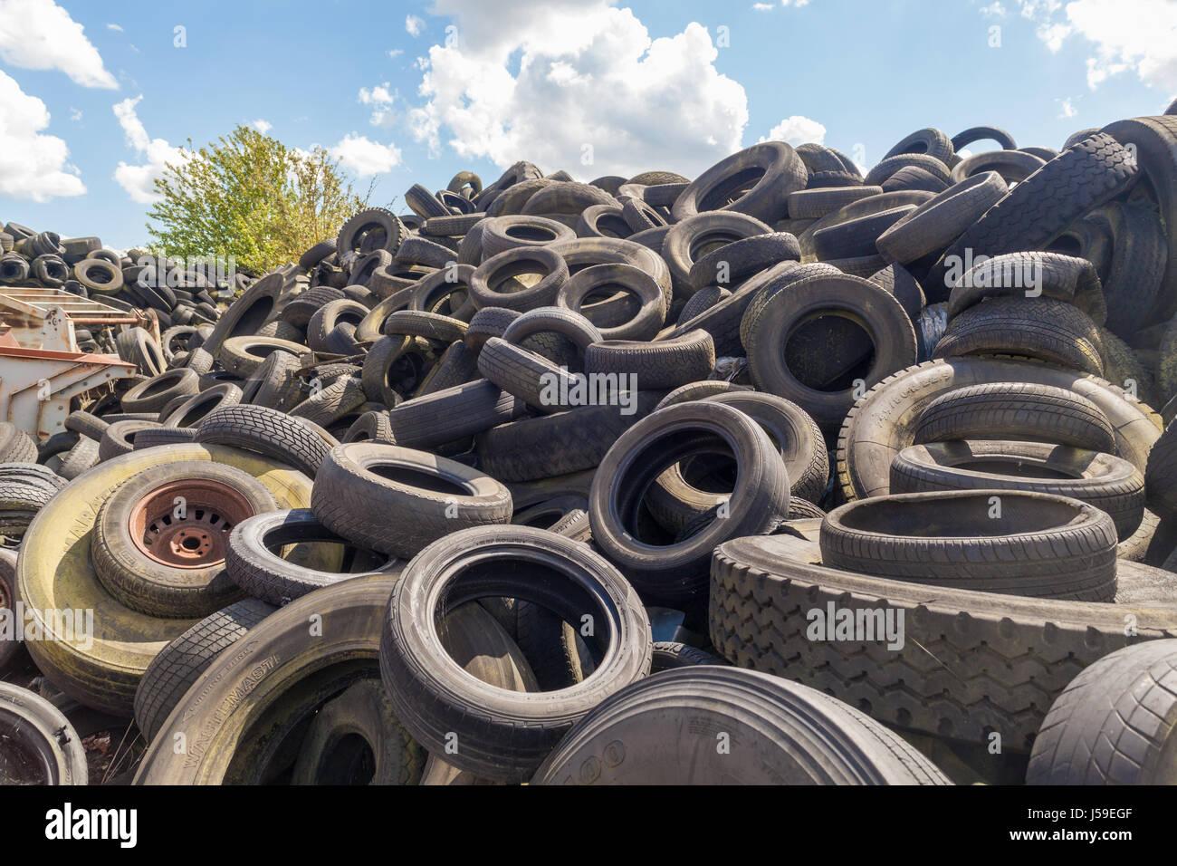 Tire Scrap pile