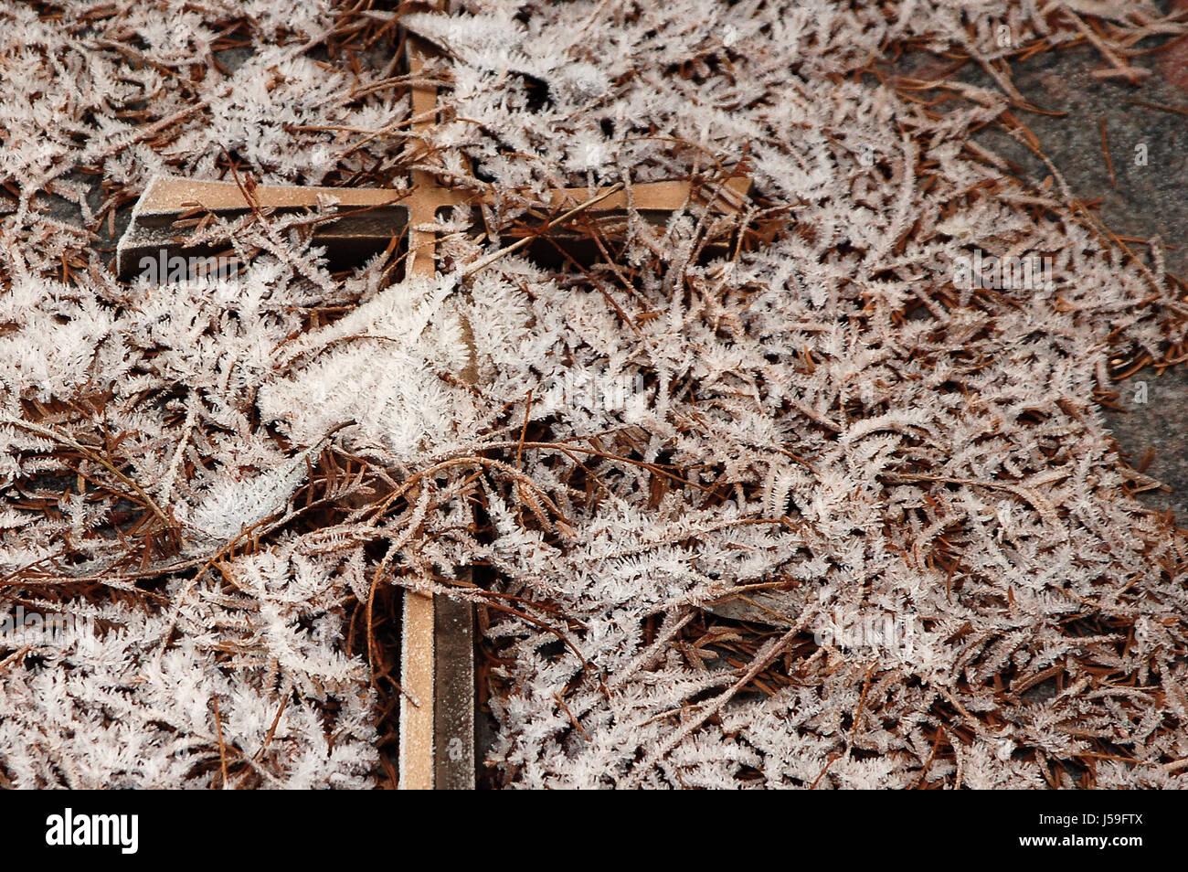 grave cross Stock Photo