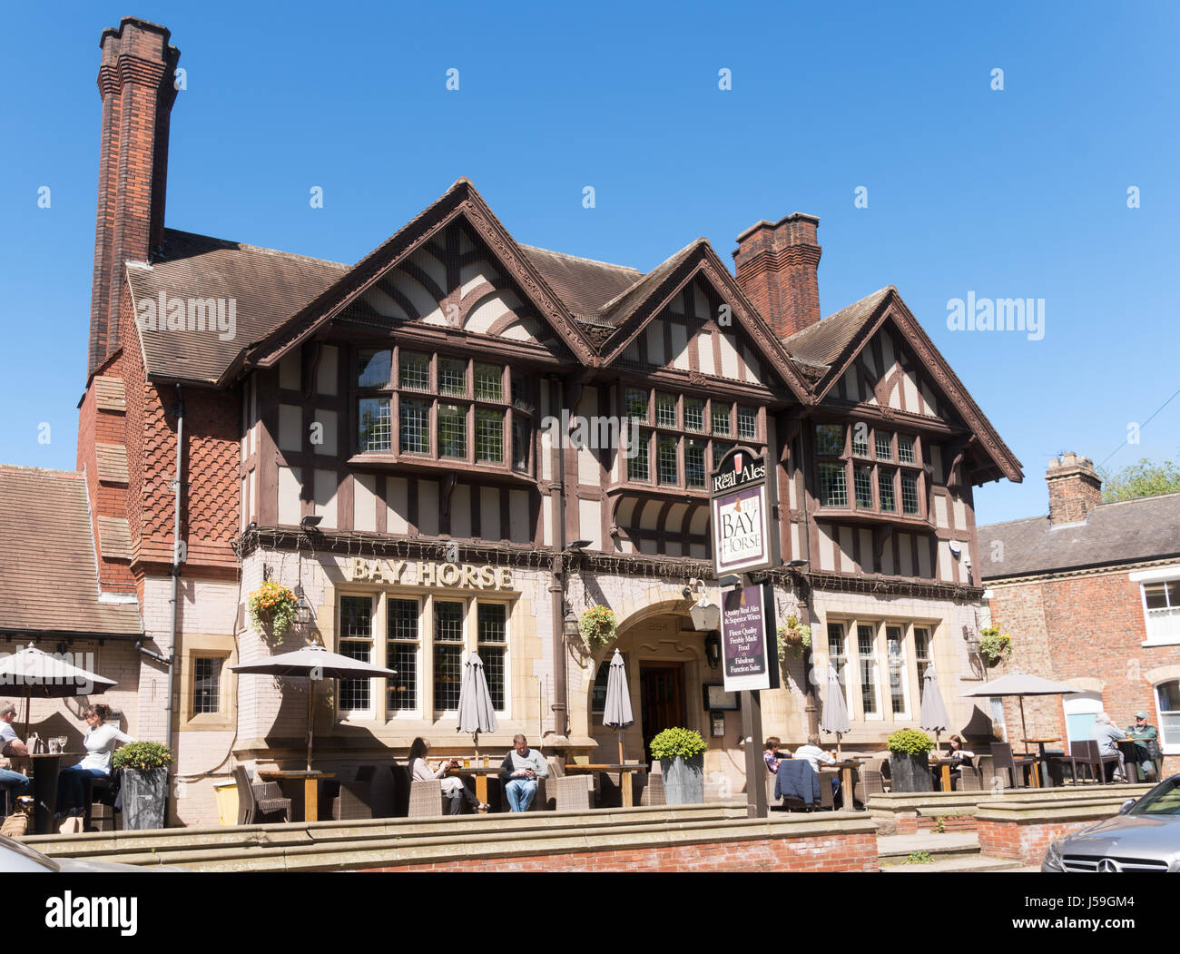 The Bay Horse pub in Marygate, York, England, UK - Stock Image