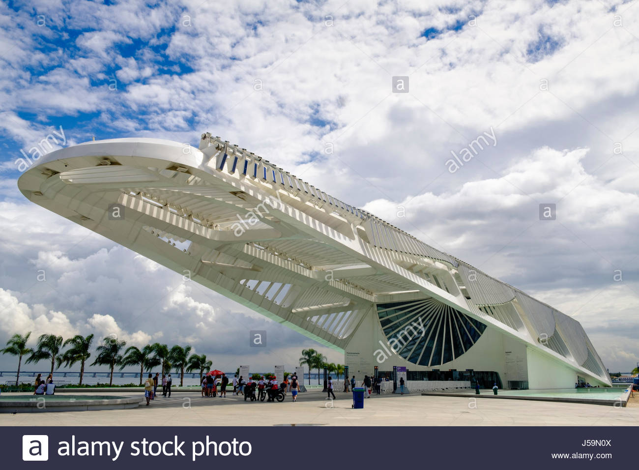Santiago Calatrava's Museum of Tomorrow in Rio de Janeiro, Brazil - Stock Image
