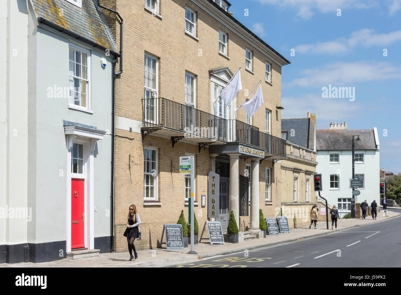 The Kings Arms Hotel, Castle Street, Christchurch, Dorset, England, United Kingdom - Stock Image