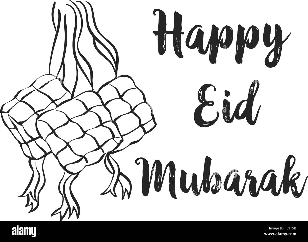 Hand draw greeting card design eid mubarak stock vector art hand draw greeting card design eid mubarak m4hsunfo
