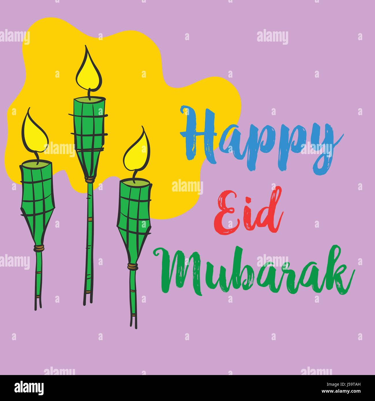 Colorful style eid mubarak greeting card stock vector art colorful style eid mubarak greeting card m4hsunfo