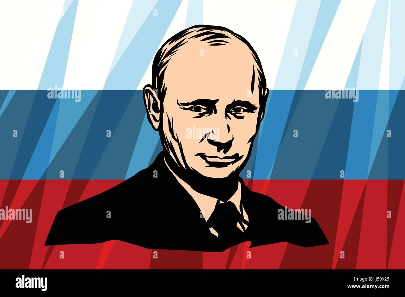 The President Of Russia Vladimir Vladimirovich Putin - Stock Image